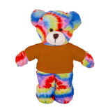 Personalized Tie-dye Bear 8""