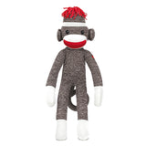 Sock Monkey Stuffed Animal Brown