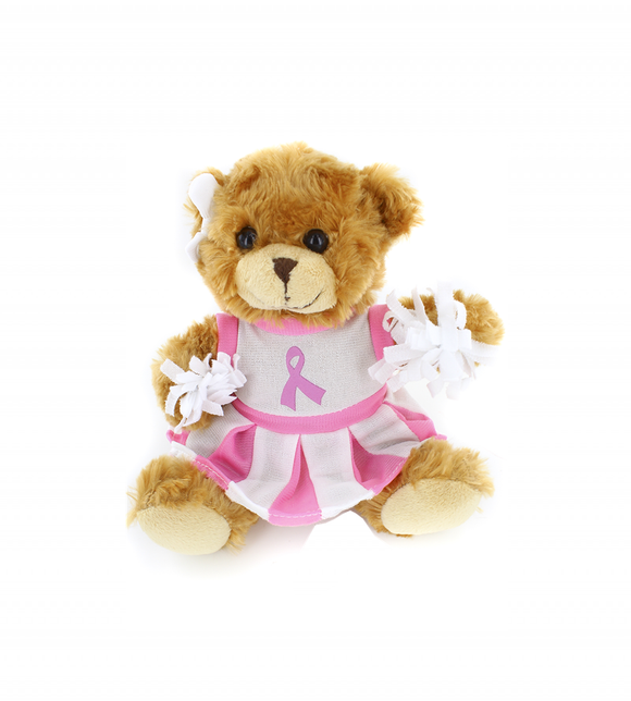 Pink Ribbon Cheerleader Bear 6