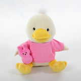 plush Duck with Pink 1st Easter Shirt 12""