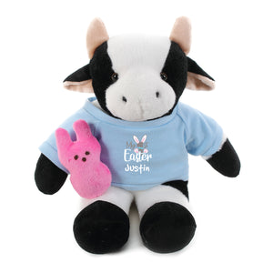 Cow  with blue 1st Easter Shirt 12""