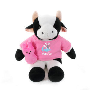 Cow  with pink 1st Easter Shirt 12""