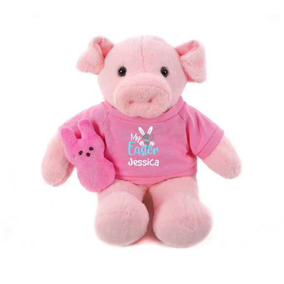 Pig with Pink 1st Easter Shirt 12
