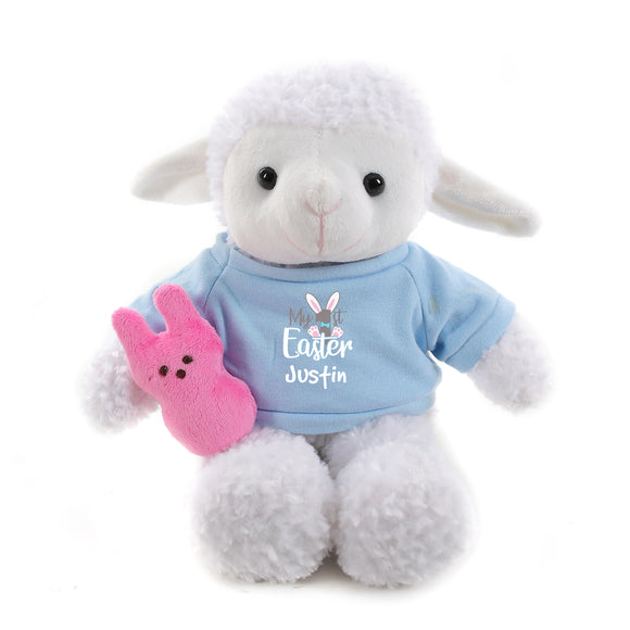 Sheep with blue 1st Easter Shirt 12