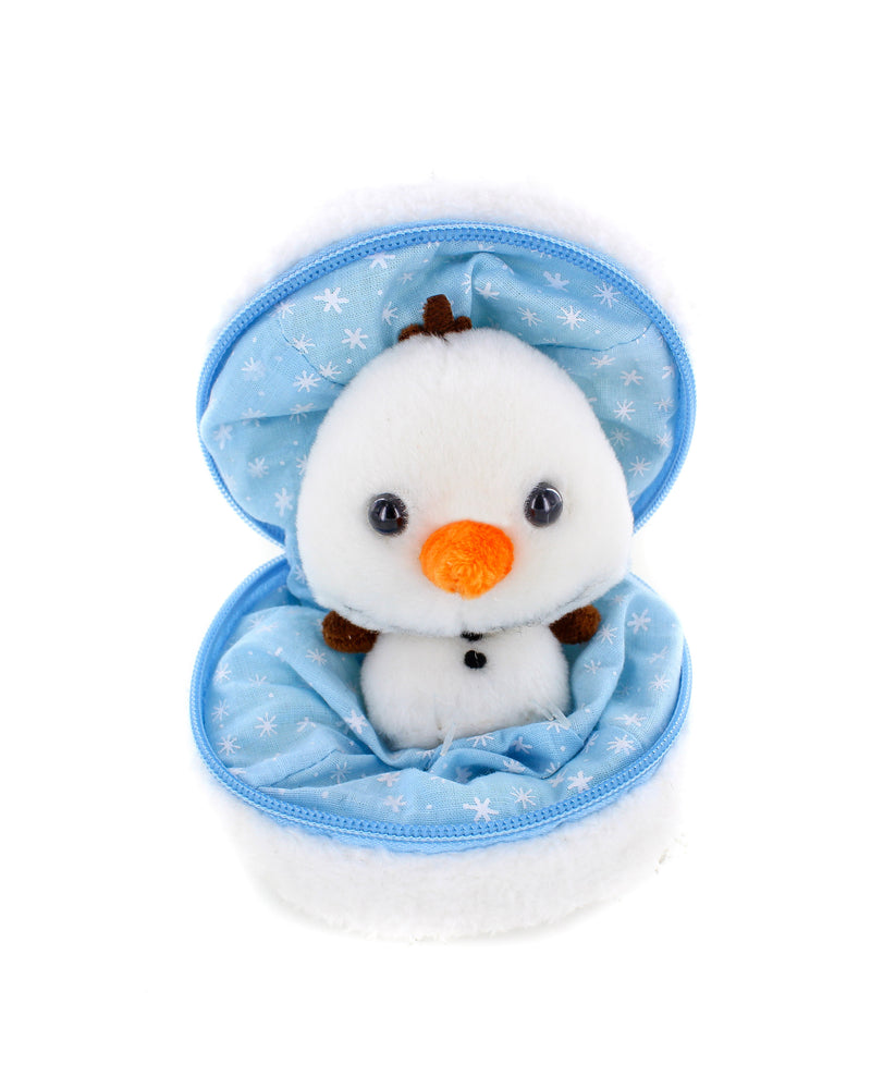 Holiday Zippy Zip Up Snowball Animals-Snowman