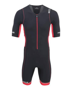 HUUB CORE LONG COURSE TRIATHLON SUIT - MENS BLACK/RED