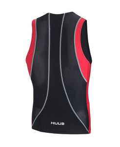 HUUB CORE TRI TOP - MENS BLACK/RED
