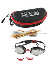 Load image into Gallery viewer, HUUB BROWNLEE SWIM GOGGLE - BLACK/RED WITH LIGHT SMOKE MIRROR LENS