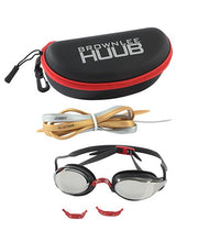 Load image into Gallery viewer, HUUB BROWNLEE SWIM GOGGLE - BLACK/BLACK WITH DARK SMOKE MIRROR LENS