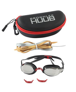 HUUB BROWNLEE SWIM GOGGLE - WHITE WITH YELLOW MIRROR LENS
