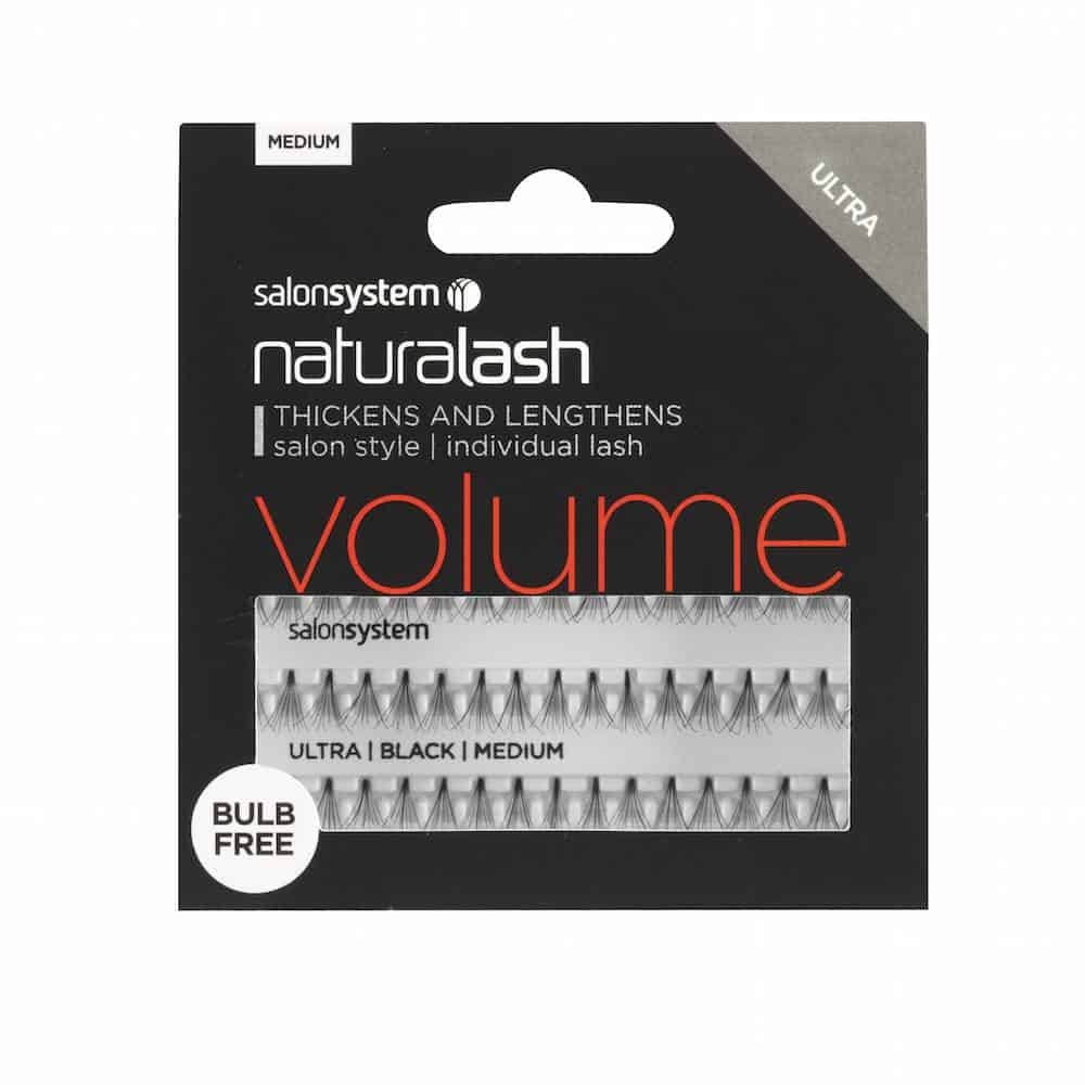 SALONSYSTEM Natralash Bulb-free Individual Lashes Black Medium - Extra Volume Lashes