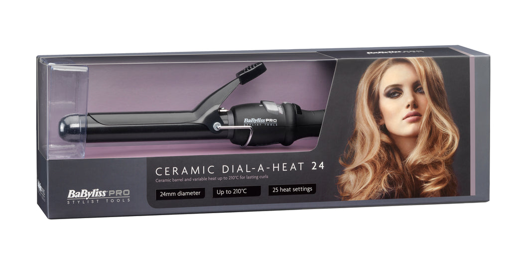 BaByliss PRO Ceramic Dial-A-Heat Curling Tong 24mm