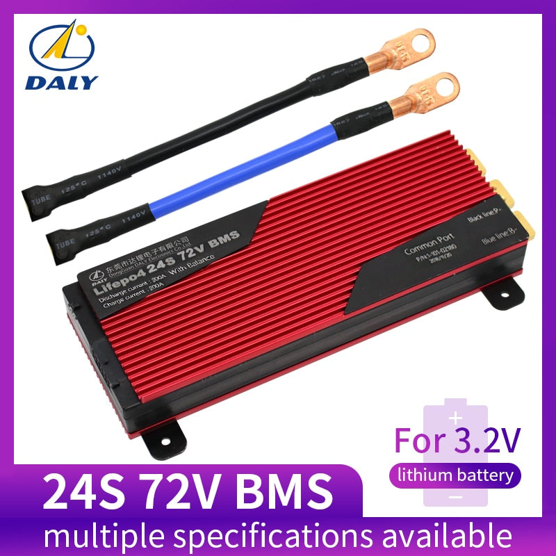 Daly 24S BMS 72V LiFePO4 battery Management System BMS 80A 100A 120A 150A 200A with high current for lithium battery