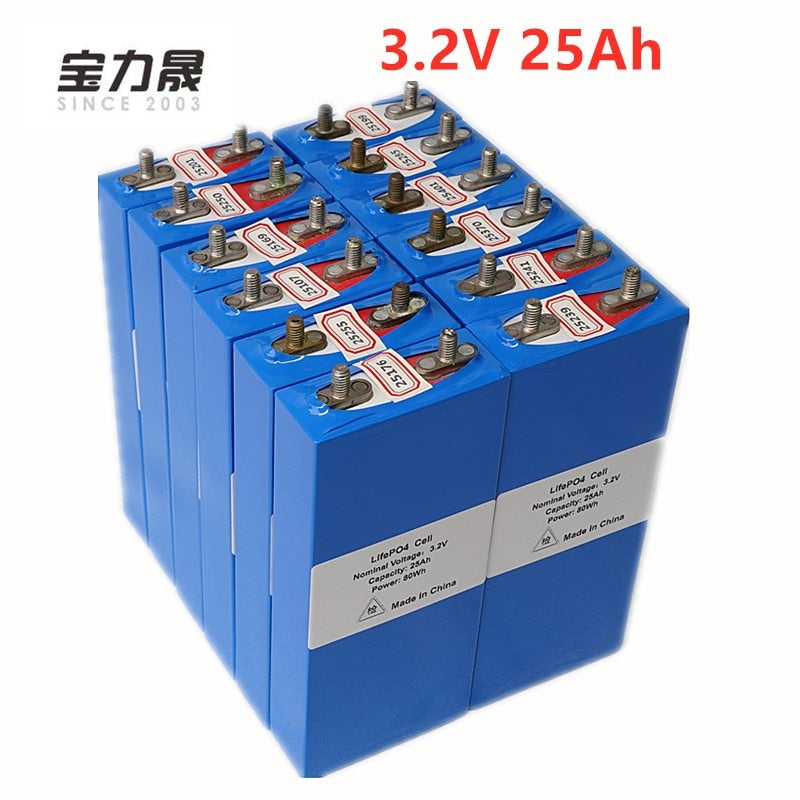 3.2v 25Ah High Capacity Lifepo4 Battery