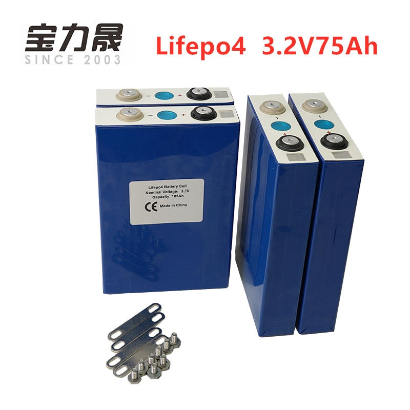 3.2V 75Ah Lifepo4 battery