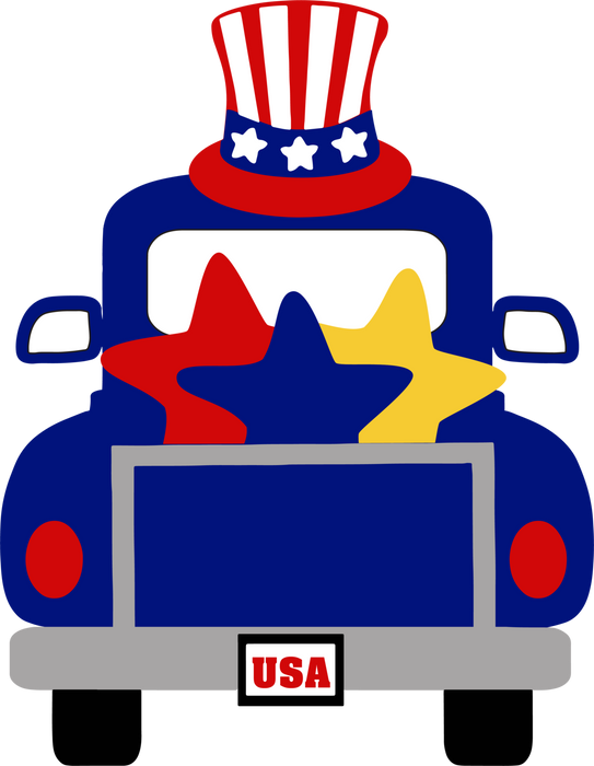 Uncle Sam Truck with Rail