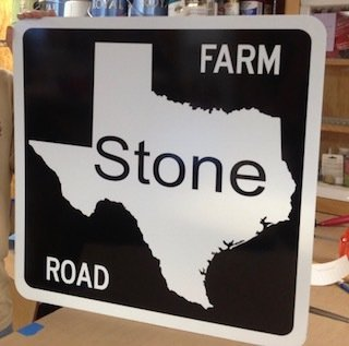 24 x 24  Inch Farm Road Sign