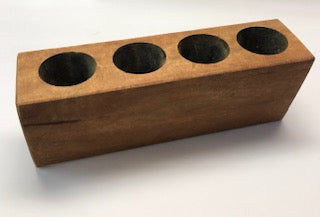 4 Hole Wooden Sugar Mold