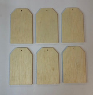 6 Small Gift Tag Wood Cutout Bundle