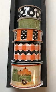 Fall Pumpkin Truck Ribbon Stack