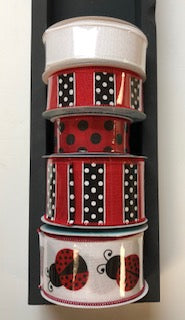 Lady Bug Ribbon Stack