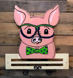 Painted Boy Pig with Rail