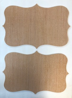 Set of 2 Decorative Shape with Points Cutout Bundle #1  12 x 18