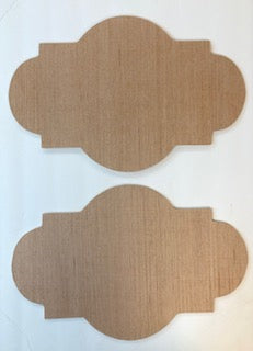 Set of 2 Decorative Shape with Rounds Cutout Bundle #2  12 x 18