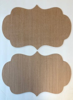 Set of 2 Decorative Shape with Rounds and Points Cutout Bundle #3  12 x 18