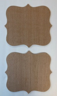 Set of 2 Decorative Shape with Points Cutout Bundle #4  10 x 10 3/4