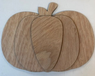 3D Pumpkin Wood Cutout