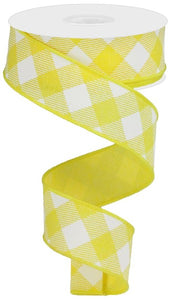 1.5 x 10 Yellow/White Diagonal Plaid