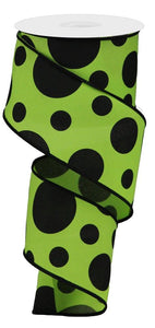 Giant Two Size Dots/Pg Fabric 2.5""