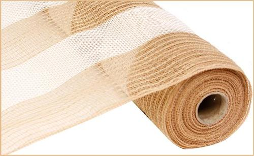 10.5 inch x 10 Yds. Poly Jute Cotton Stripe Mesh
