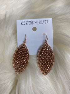 Rose Gold Beaded Earring