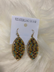 Multi Color Beaded Earring