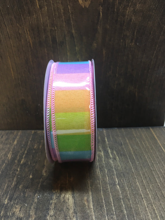 Pastel Multi Color Rainbow Royal Ribbon