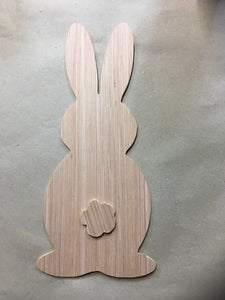 Unpainted Bunny Cutout