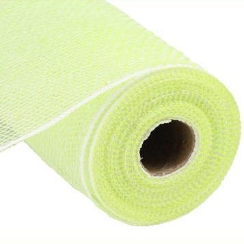 10.5x10 yd Iridescent Pastel Apple Green /white Mesh