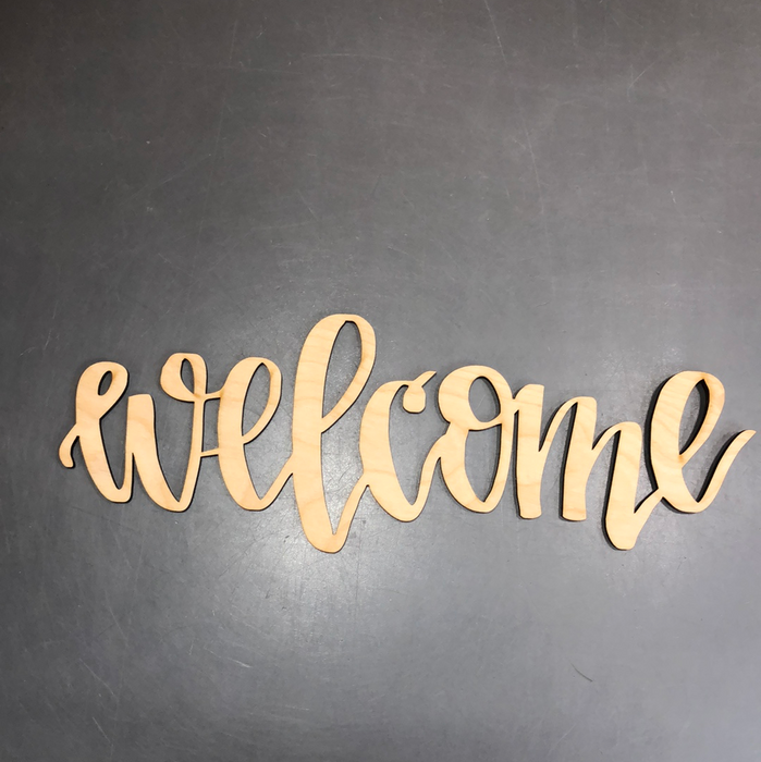 Small Welcome Wood Cutout