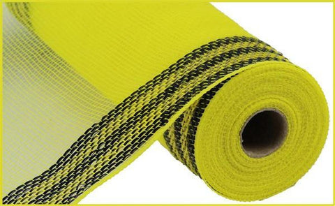 10.5x10 yd Border Stripe Yellow/Black Mesh
