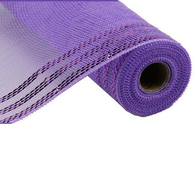 "10.5""x10 yd lavender with Lavender Foil Border Stripe"