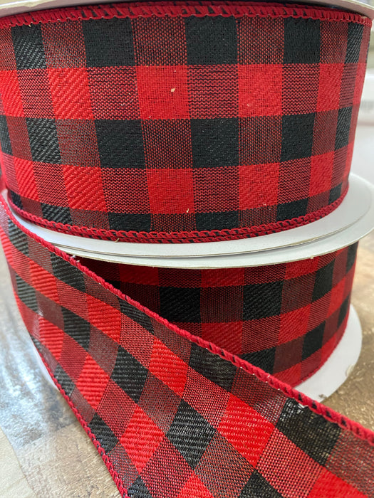 2 1/2 x 50 Red/Black Buffalo Plaid