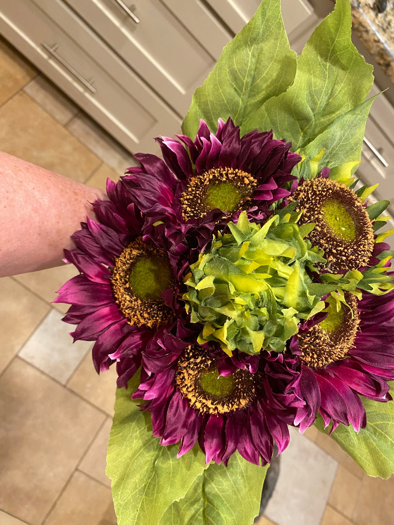 Deluxe Purple (Eggplant) Sunflower Bouquet