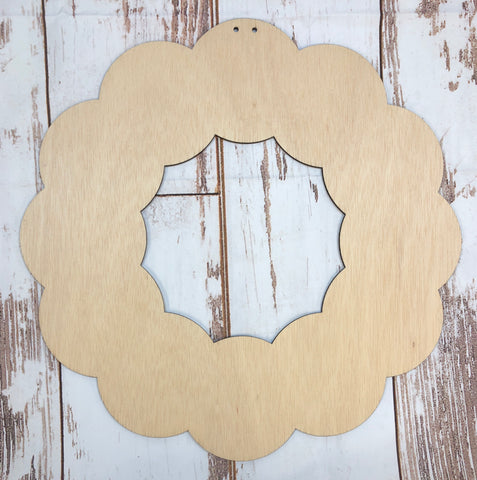 Wood Wreath Door Hanger