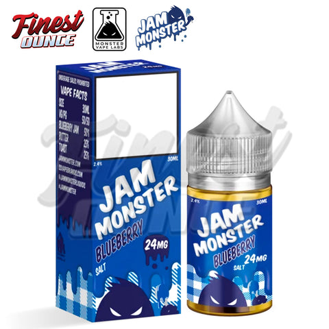 Jam Monster - Blueberry (SALT) 30mL - Finest Ounce Vape Store