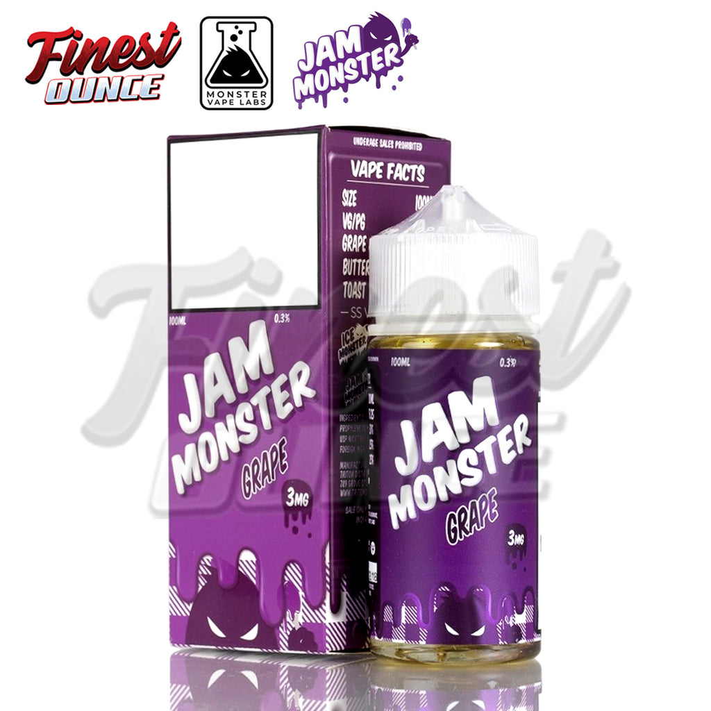 Jam Monster - Grape (FREEBASE) 100mL