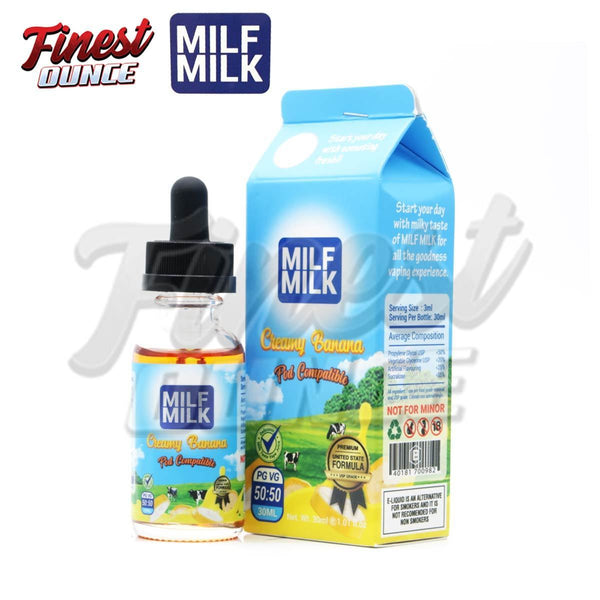 Milf Milk - Creamy Banana (FREEBASE) 30mL