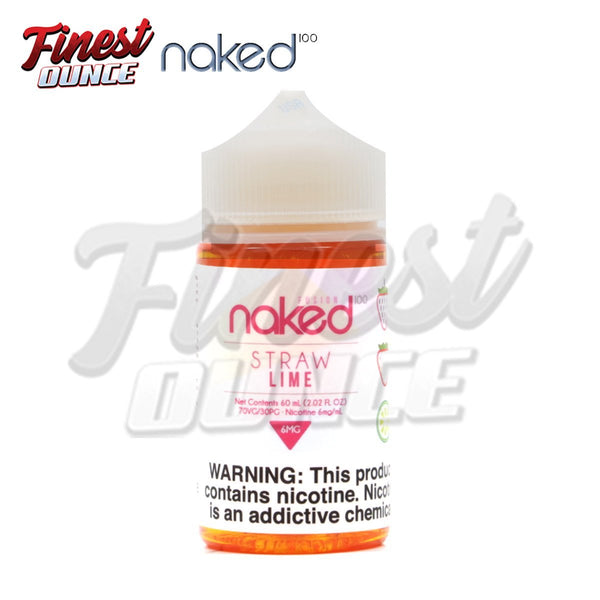 Naked 100 - Straw Lime (FREEBASE) 60mL