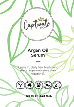 Load image into Gallery viewer, Captivate & Co Argan Oil Treatment Serum 125ml - Captivate & Co.